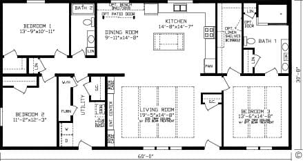 Oakmont $185,600 3 Beds | 2 Baths | 1840 Sq. Ft